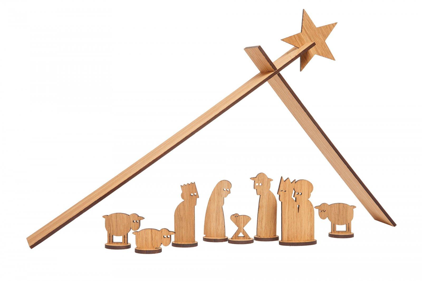 DESIGNIMDORF | Holzkrippe | SIMPLY CHRISTMAS Buche