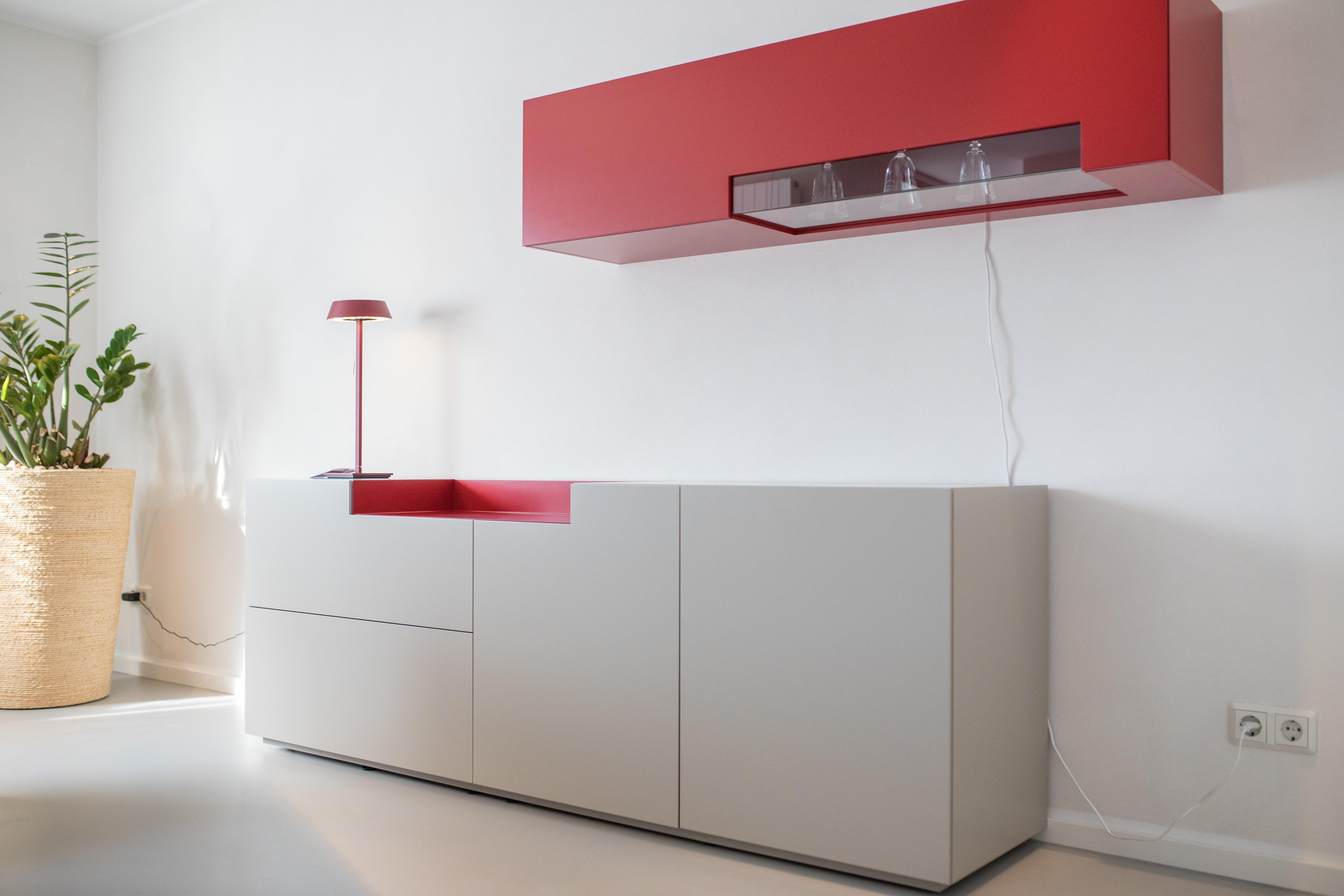 WK Wohnen | Sideboard & Hängevitrine | WK404 CORNA