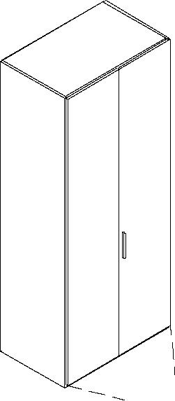 interlübke | Kleiderschrank | BASE 2-türig